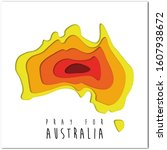 fire in australia. save to...   Shutterstock . vector #1607938672