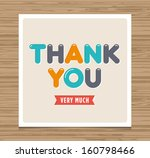 thank you card  balloons type... | Shutterstock .eps vector #160798466