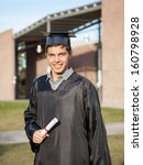 portrait of graduate male... | Shutterstock . vector #160798928