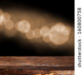 dark brown desk and bokeh space    Shutterstock . vector #160800758