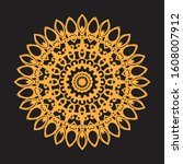 mandala gold and black... | Shutterstock .eps vector #1608007912