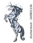 winter fairy tale unicorn horse ...