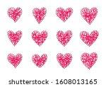 exclusive valentine's day gift. ... | Shutterstock .eps vector #1608013165