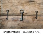 Three Old Rusty Keys From An...