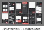 ui kit elements for mobile app...
