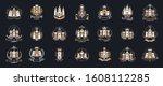 castles logos big vector set ...   Shutterstock .eps vector #1608112285