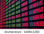 display of stock market quotes... | Shutterstock . vector #160811282