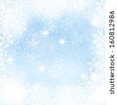elegant winter background made... | Shutterstock .eps vector #160812986