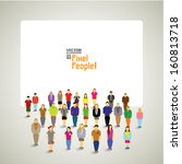 a large group of people with... | Shutterstock .eps vector #160813718