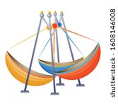 Boat Carousel Icon. Cartoon Of...