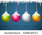 set of different colored... | Shutterstock .eps vector #160818512