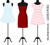 different dresses on a... | Shutterstock .eps vector #160819082