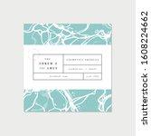 vector patten for cosmetics... | Shutterstock .eps vector #1608224662