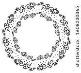 black and white vector frame in ...   Shutterstock .eps vector #1608230365
