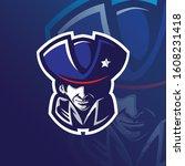 patriot mascot logo design... | Shutterstock .eps vector #1608231418