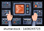 control panel with many...   Shutterstock .eps vector #1608245725