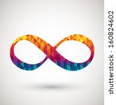 infinity symbol with colorful... | Shutterstock .eps vector #160824602