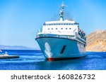 marine ship is at anchor near... | Shutterstock . vector #160826732