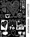 concept love doodles  hand... | Shutterstock . vector #160827725