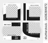 abstract modern social media... | Shutterstock .eps vector #1608284872