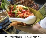 fried papaya salad in thailand | Shutterstock . vector #160828556