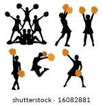 series of cheerleaders with... | Shutterstock .eps vector #16082881