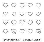 vector set of heart line icons. ... | Shutterstock .eps vector #1608346555