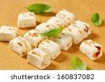 Постер, плакат: Soft nougats with peanuts