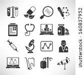 medical icons set   Shutterstock .eps vector #160837952