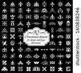 90 ornamental elements for... | Shutterstock .eps vector #160838246