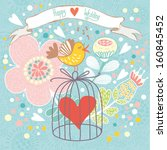 abstract romantic card in cute...   Shutterstock .eps vector #160845452