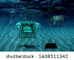Surreal Art. Armchair And...