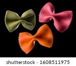 Set Of Colorful Farfalle Pasta...