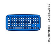 keyboard color line icon. input ...