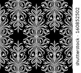 seamless damask pattern on... | Shutterstock .eps vector #160852502