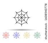 spider web multi color style...