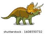 Triceratops Dinosaur Vector...
