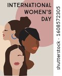 international womens day.... | Shutterstock .eps vector #1608572305