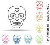 day of the dead  skull multi...   Shutterstock .eps vector #1608607522