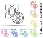 bitcoin  gpu multi color style...