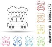 rain car carwash cloud in multi ...