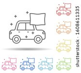 car dry carwash in multi color...