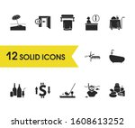 travel icons set with scissors...