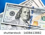 american dollars. a stack of... | Shutterstock . vector #1608613882