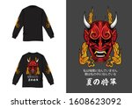 Oni Mask Design For Longsleeve...