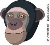 Chimpanzee Portrait Made In...