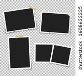 set of realistic photo frames... | Shutterstock .eps vector #1608633235