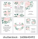 set of hand drawn vector cards... | Shutterstock .eps vector #1608640492