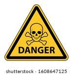 Yellow Danger Warning Road Sign ...
