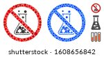 no chemical reaction mosaic of... | Shutterstock .eps vector #1608656842